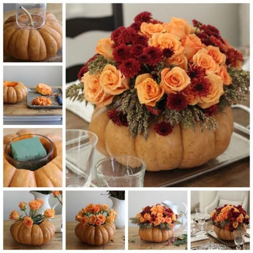 Creative Pumpkin Thanksgiving Centerpiece