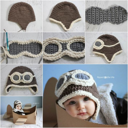 Cute Aviator Hat Crochet Pattern