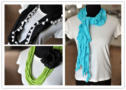 DIY Clothes - How To Make DIY No-Sew Infinity Scarves