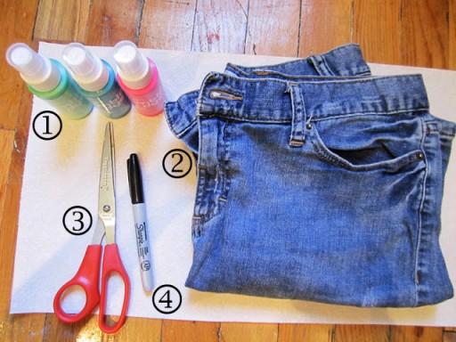 DIY Clothes - Tie Dye Shorts 1