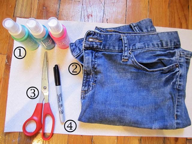 diy clothes tie dye shorts 1 diy tag. Black Bedroom Furniture Sets. Home Design Ideas