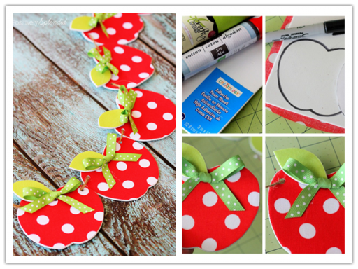 DIY Fabric Apple Garland Craft Tutorial