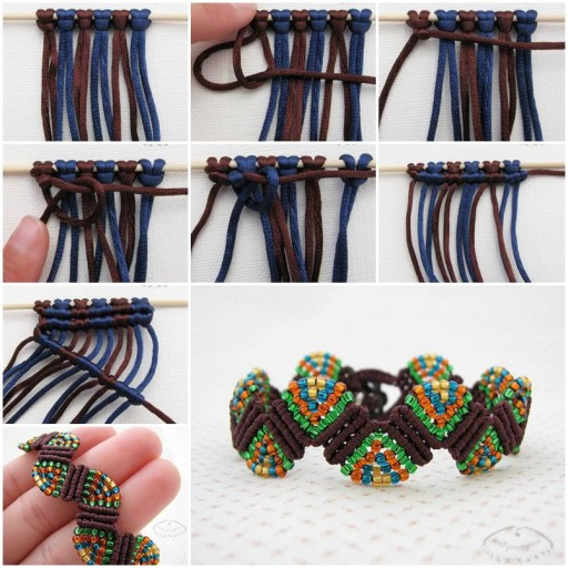 DIY Fabulous Wave Macrame Beaded Bracelet Tutorial