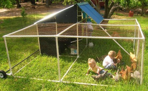 DIY PVC Chicken Coops