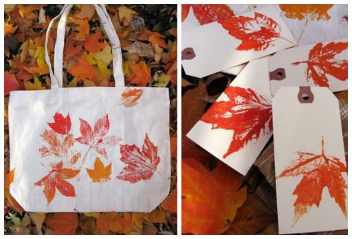 DIY Painting With Leaves