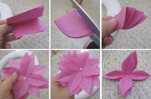 DIY Paper Flower Wreath Tutorial 2