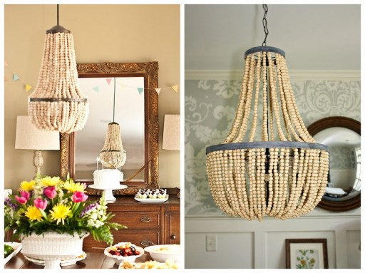 Gorgeous DIY Beaded Chandelier 1