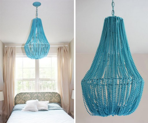 Gorgeous DIY Beaded Chandelier