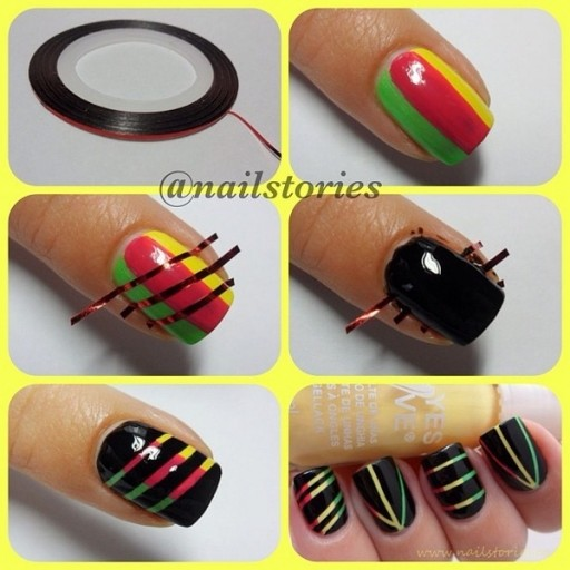 How To Do DIY Nail Art With Tapes