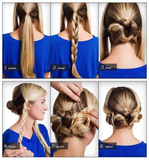 How To Do Triple Braided Bun Hair Tutorial