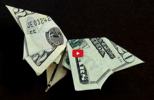 How To Fold A Dollar Bill Origami Butterfly Paper Crafts