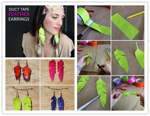 How To Make Adorable DIY Duct Tape Feather Earrings
