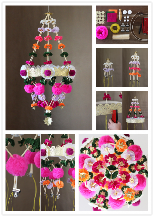 How To Make Beautiful DIY Chandelier Lighting Fixture 1