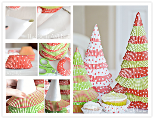 How To Make Christmas Trees With Cupcake Liners