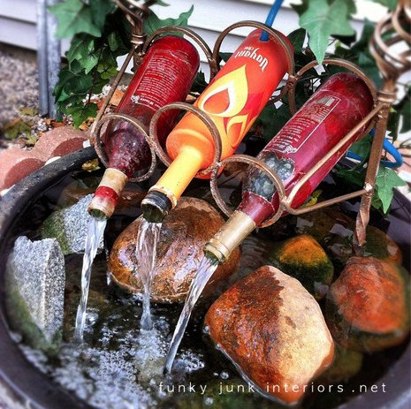 How To Make Cool DIY Wine Bottle Fountain 1