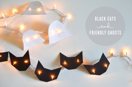How To Make DIY Black Cats And Friendly Ghosts 1