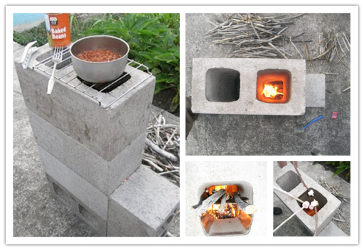 How To Make Diy Concrete Block Rocket Stove Diy Tag