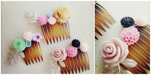 How To Make DIY Flower Combs Hair Accessories