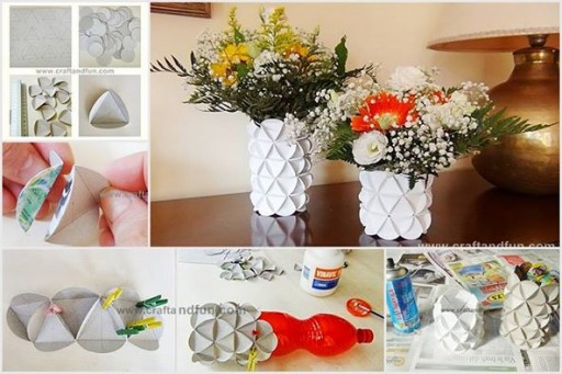How To Make Diy Flower Vase From Recycled Cereal Boxes Diy Tag