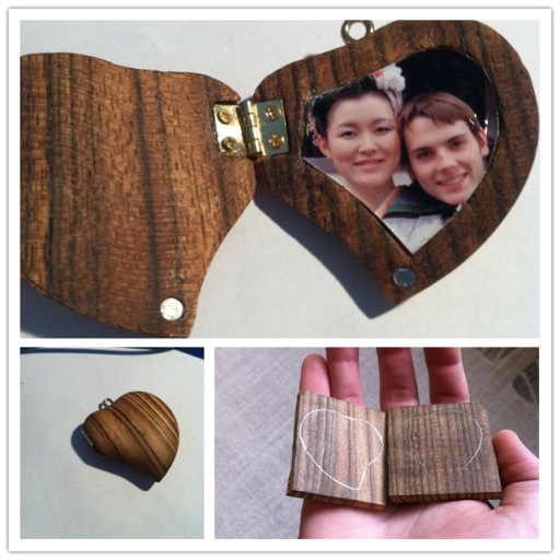 How To Make DIY Locket From A Piece Of Wood