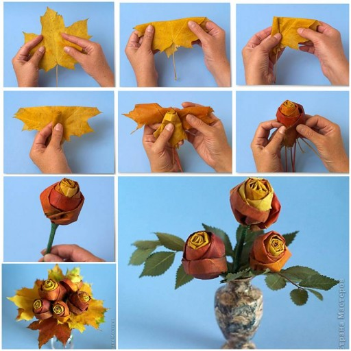 How To Make DIY Maple Leaf Rose