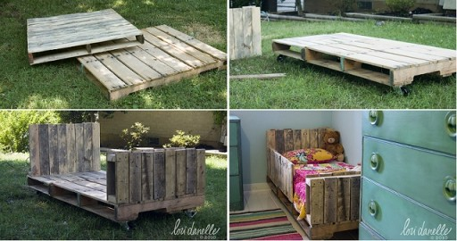 How To Make DIY Toddler Pallet Bed