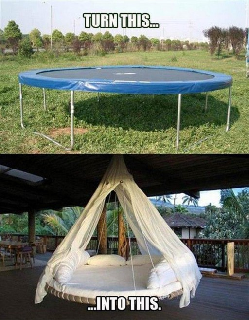 How To Re-purpose Garden Trampoline