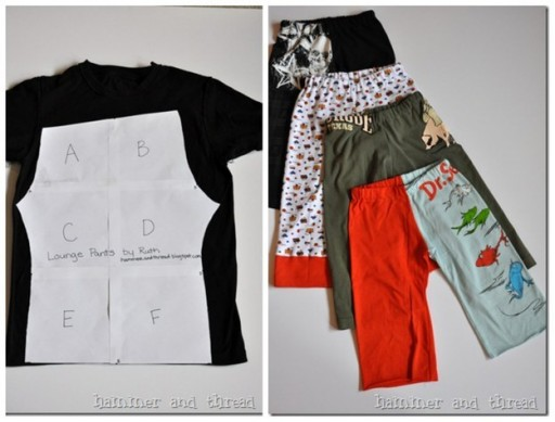 How To ReFahsion Old T-Shirts Into Kids' Pants