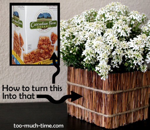 How To Turn A Cereal Box Into A Planter Box