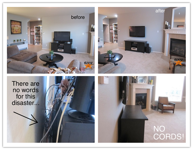 How To Mount A Tv On The Wall And Hide All The Cords Step By Step Diy Tutorial Instructions