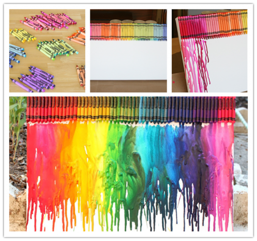 La Crafts With Melted Crayons