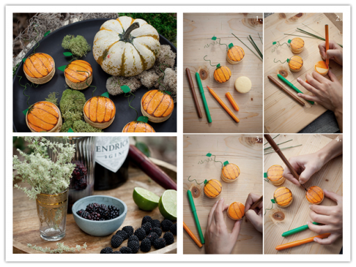 Spooky Pumpkin Macarons And Camille's Poison Berry Smash Cocktail Recipes