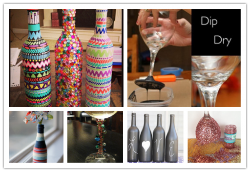6 ways To Decorate Wine Glasses And Bottles