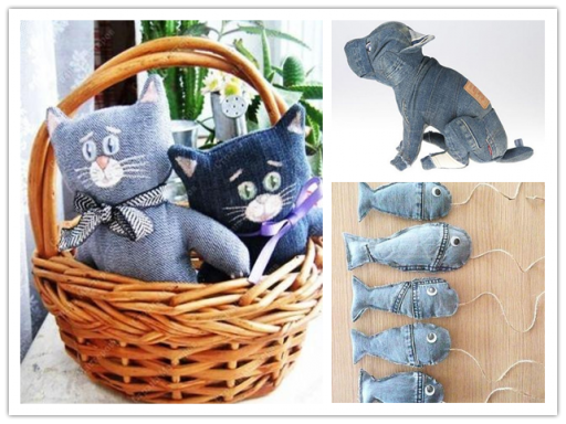 Craft Ideas To Do With Old Jeans 2