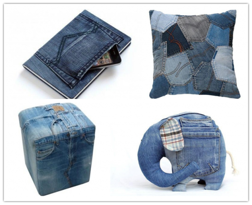 Craft Ideas To Do With Old Jeans