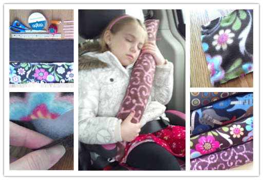 Cute DIY Child Car Seat Belt Pillow Tutorial 1