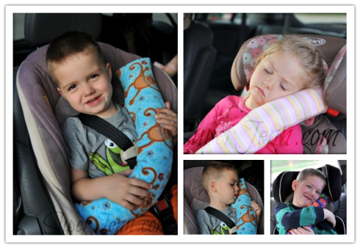 Cute DIY Child Car Seat Belt Pillow Tutorial