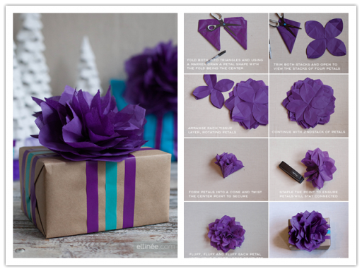 DIY Tissue Paper Flower Topper Tutorial 1