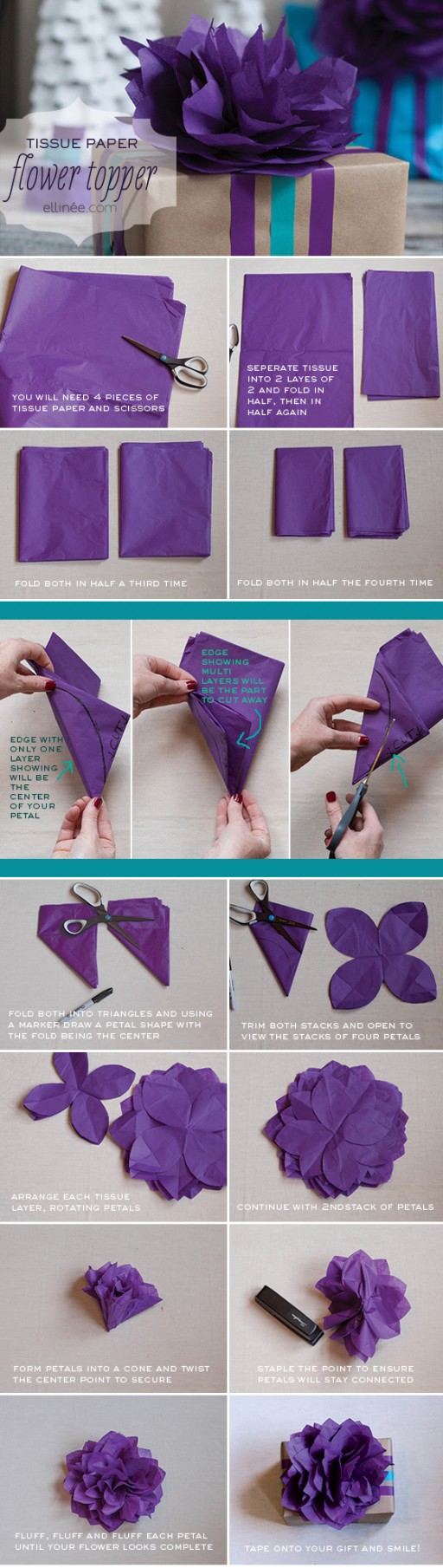 DIY Tissue Paper Flower Topper Tutorial