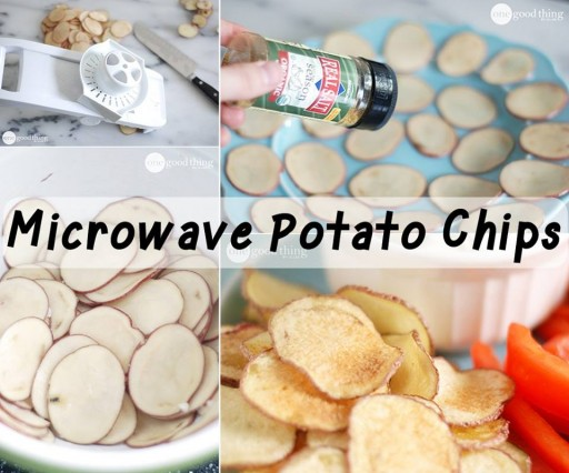 How TO Make Homemade Microwave Potato Chips