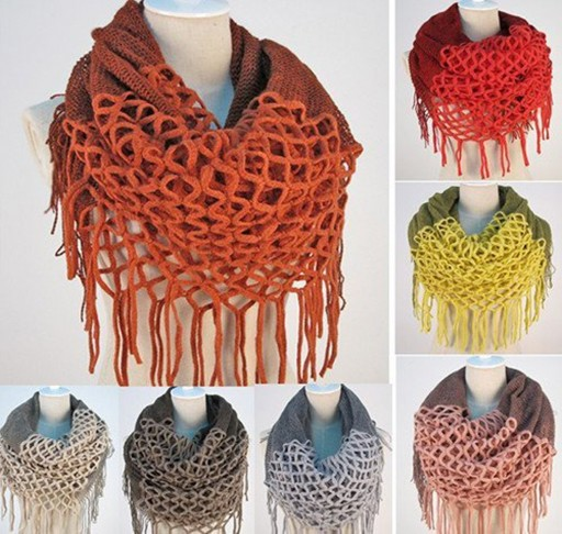 How To Crochet Infinity And Straight Shawl Scarves 2