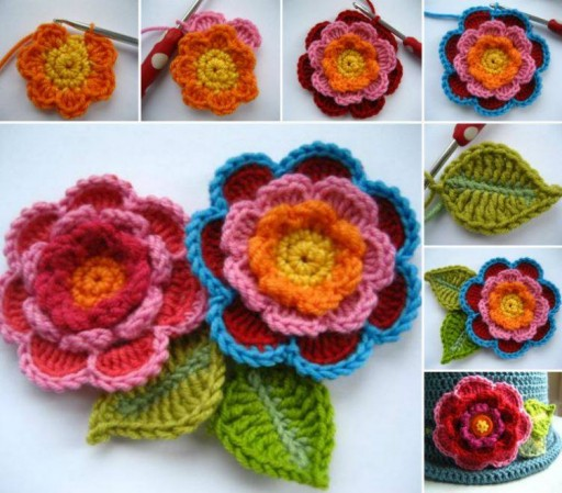 How To Crochet Lovely Flowers