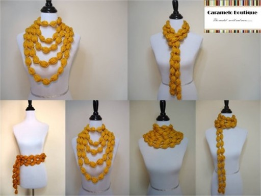 How To Crochet Popcorn Stitch Scarf 1