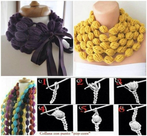 How To Crochet Popcorn Stitch Scarf