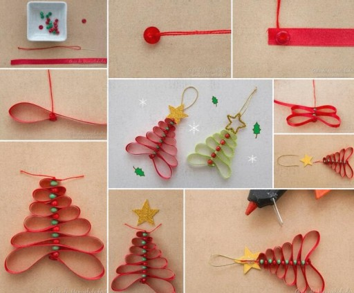 How To Decorate Christmas Trees With Ribbon Pendants