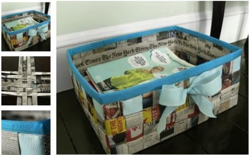 How To Make A Storage Basket From Newspapers