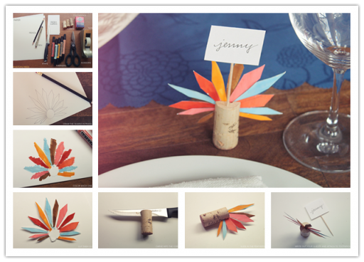How To Make Cute DIY Turkey Feather Place Cards