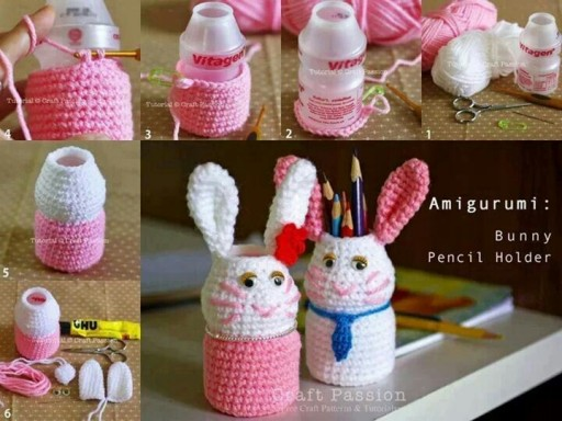 How To Make DIY Bunny Pencil Holders