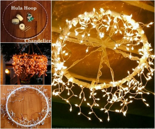 How To Make Hula Hoop Chandelier