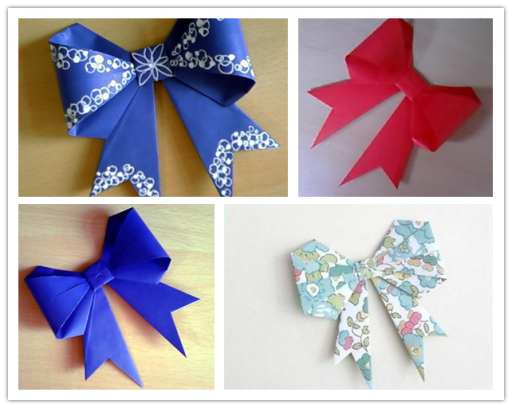 How To Make Origami Paper Bows 1